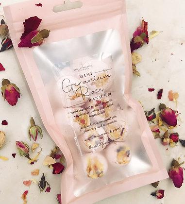 Geranium Rose Mini Bath Pods