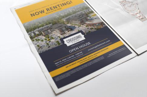 Crossing Newspaper Ad