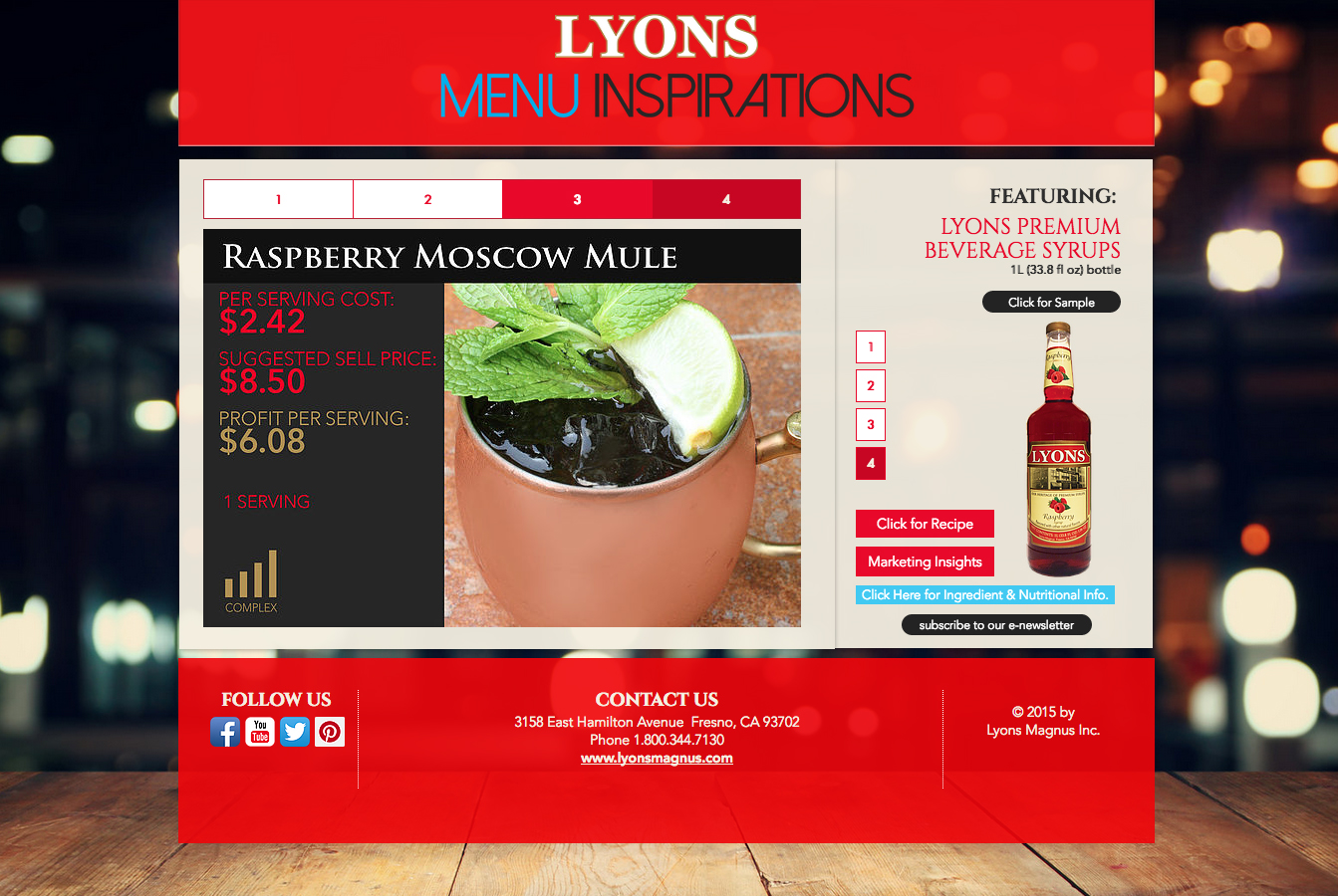 Lyons Magnus Promo Website
