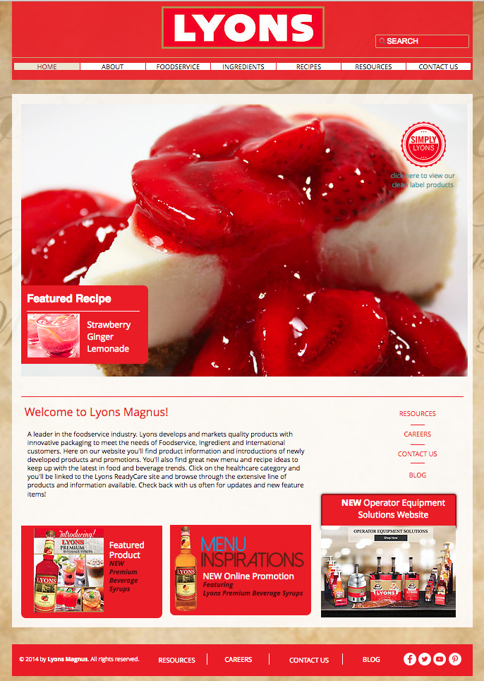 Lyons Magnus Company Website