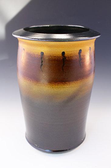 Temoku Black Vase