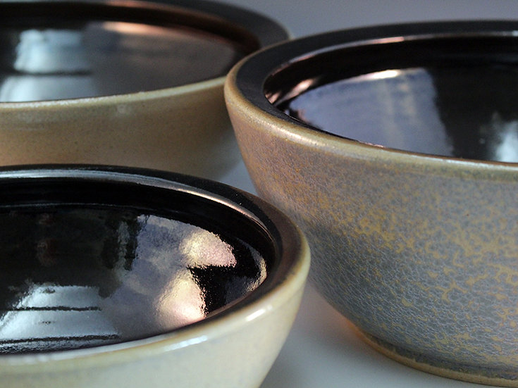 Black & Iron Serving Bowls