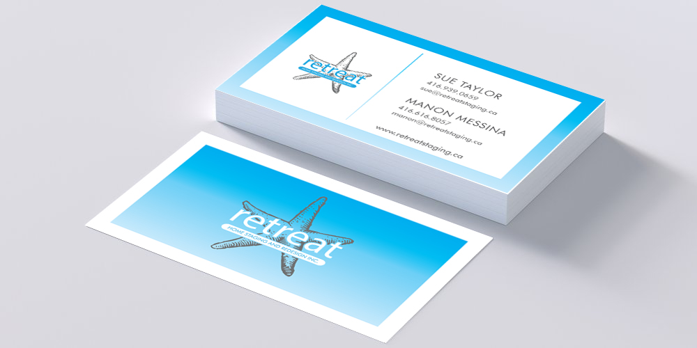 retreat business card mockup