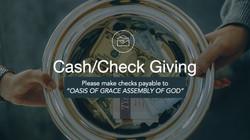 Cash/Check Giving