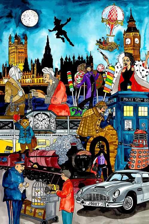 London Story Time Print