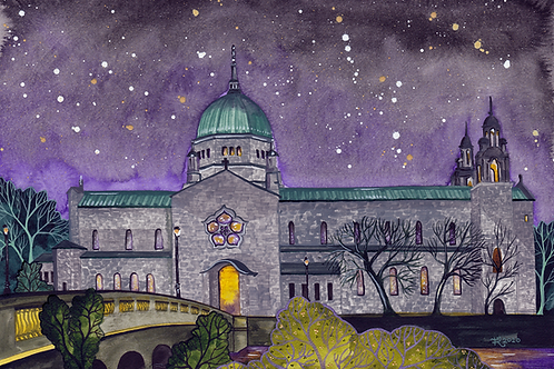 Galway Cathedral by Night (Original)