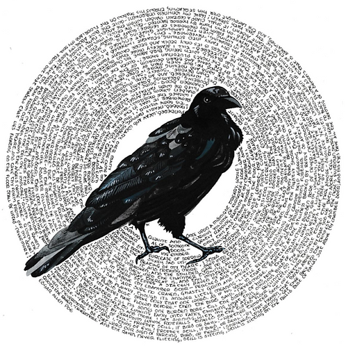 Poe's Raven Print