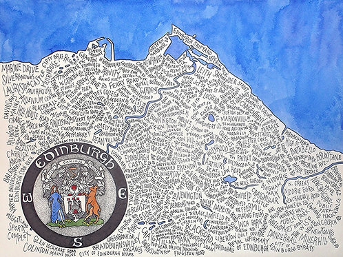 Edinburgh Word Map Print