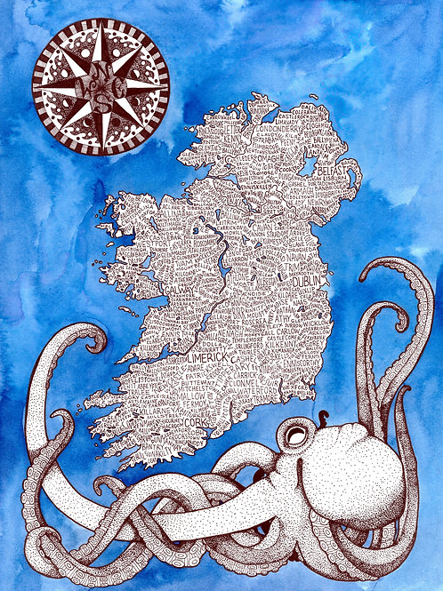 Ireland Word Map Print
