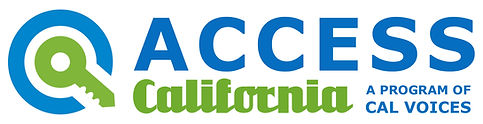 ACCESS Cal Voices Logo White 9.10.19 dz