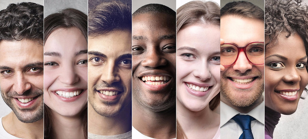 Diverse people's faces