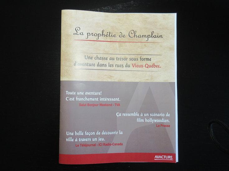 Livret d'aventure - La prophétie de Champlain