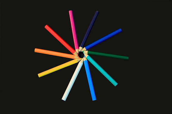Circle of Colored Pencils Slanted