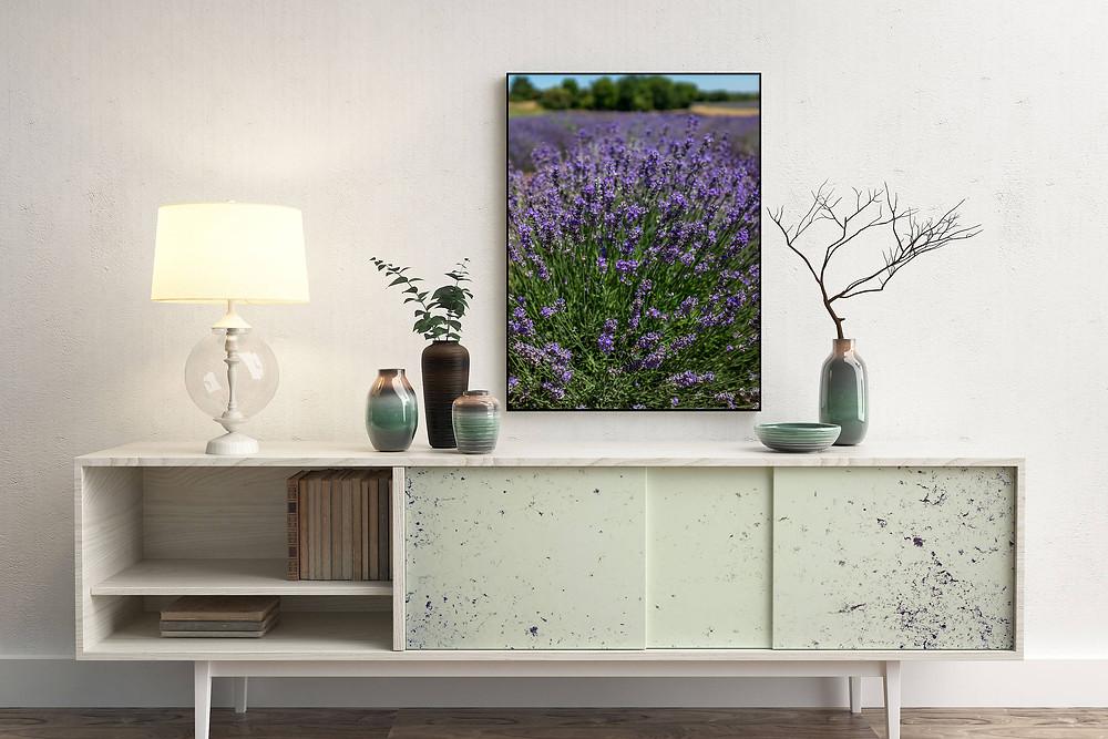 Purple Lavender Art Print for Home Decor