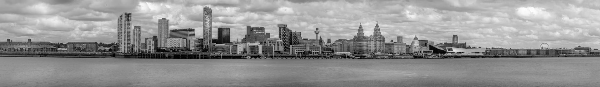 Liverpool Skyline from New Brighton
