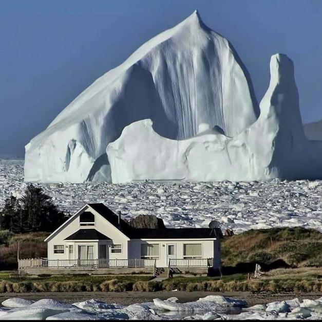 Iceberg sailing past New Foundland Coast