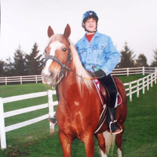 Gregory has found a passion for riding.  He now rides at Foxfield Stables.