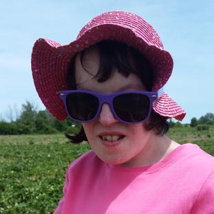 Rebecca Picked Strawberries