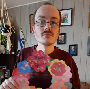 Shaun and His Spring Wreathe