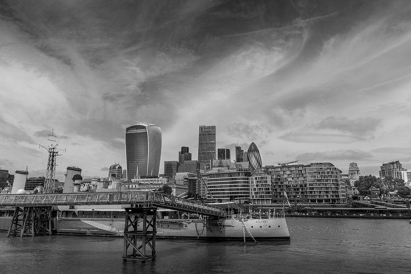London Skyline And HMS Belfast