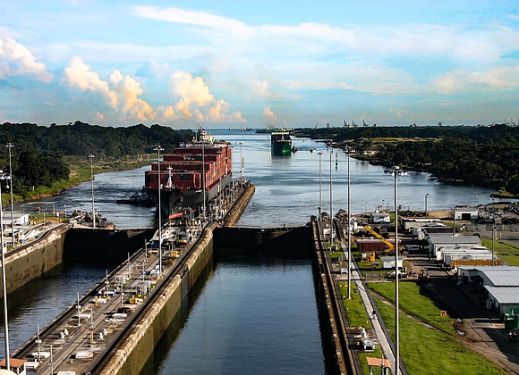 East end of Panama Canal