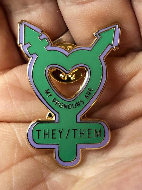My Pronouns are They/Them Enamel Pin