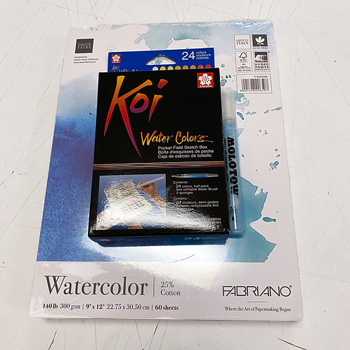 Watercolor 24 Color Kit