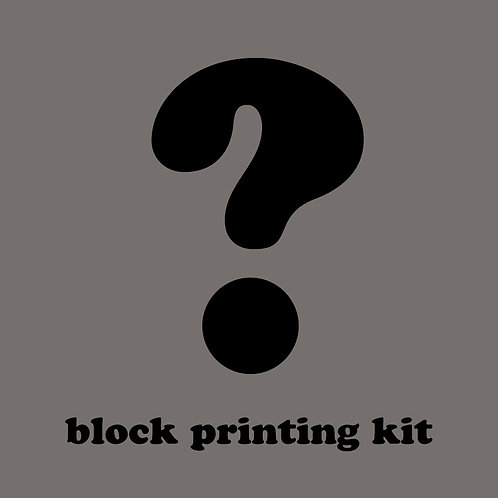 Mystery Block Printing Kit