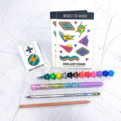 Stickers Pins & Pens Pride Kit!