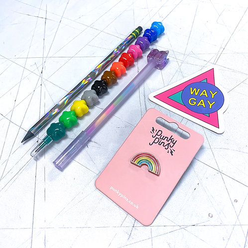 Way Gay Rainbow Writer Kit