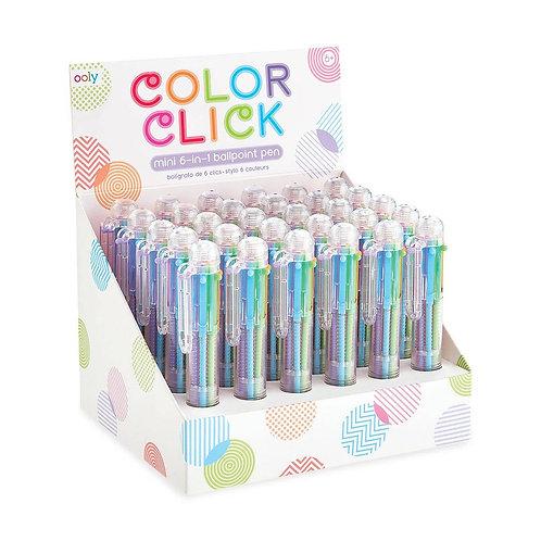 Color Click Mini 6-in-1 Colored Ballpoint Pen