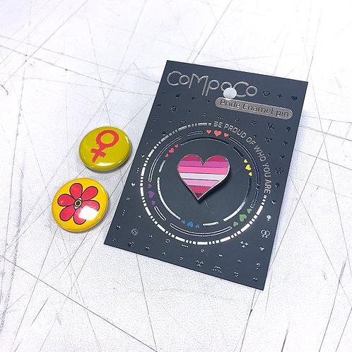 Lesbian Pin Set