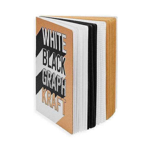 White Black Graph Kraft Sketchbook