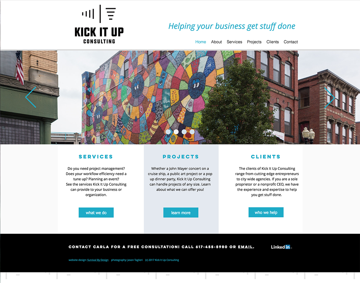 Kick It Up Consulting Website