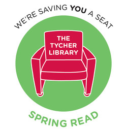 Tycher Library + Spring Read Logo