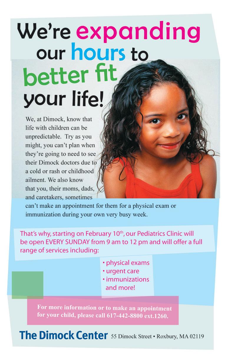 The Dimock Center Pediatrics Ad
