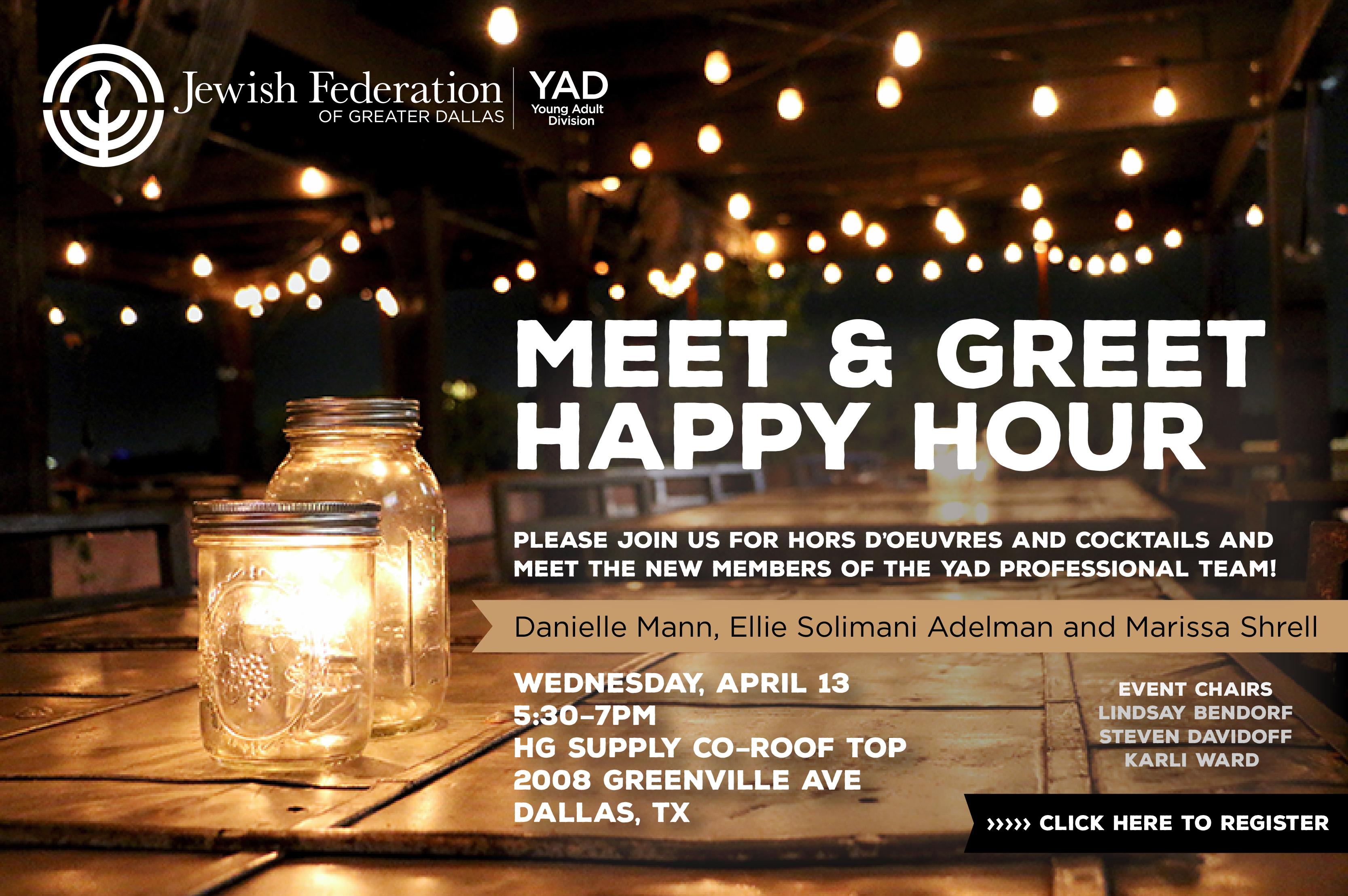 JFGD Meet + Greet Happy Hour