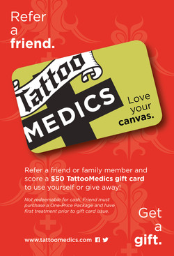 Gift Cards for Tattoo Medics