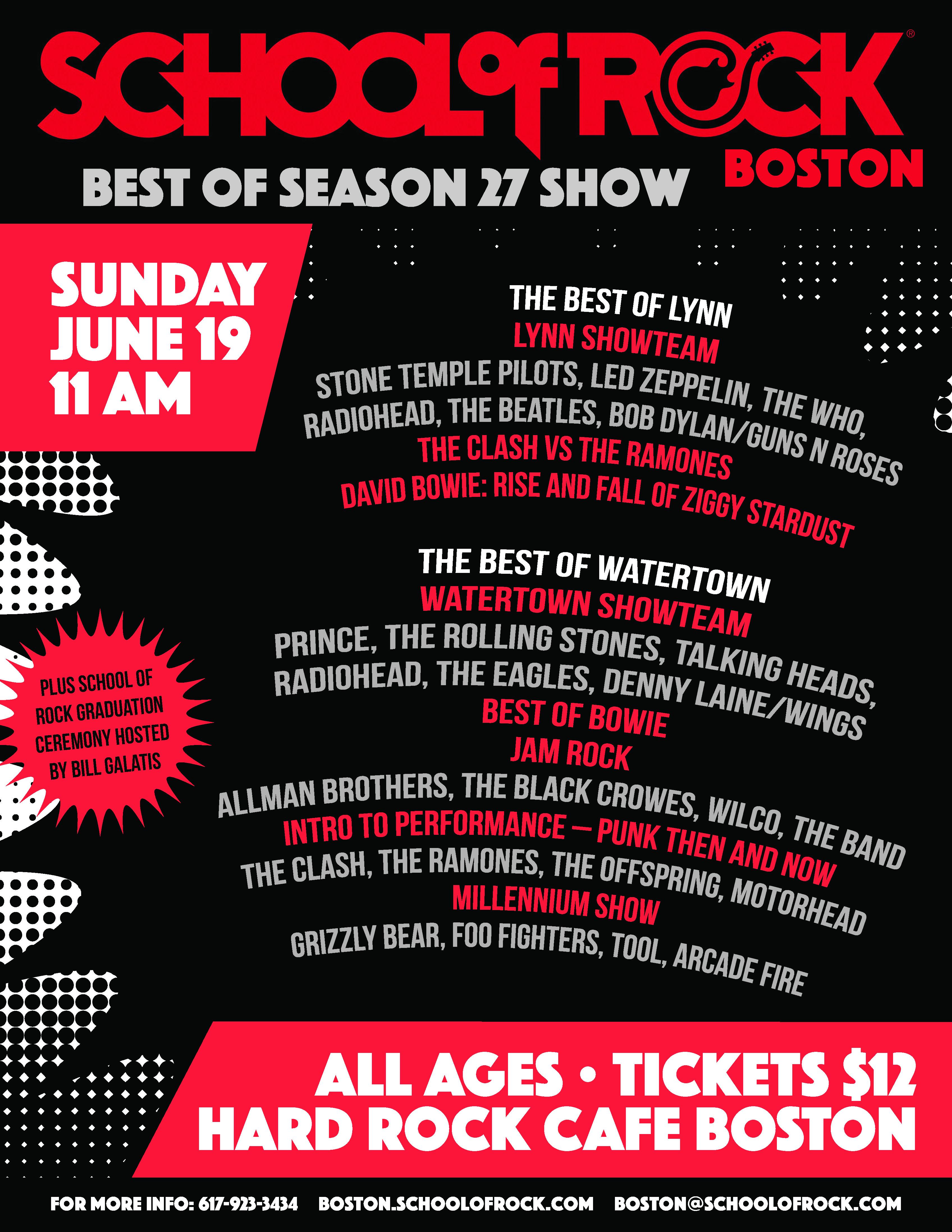 Season 27 BEST OF SEASON Show Flyer