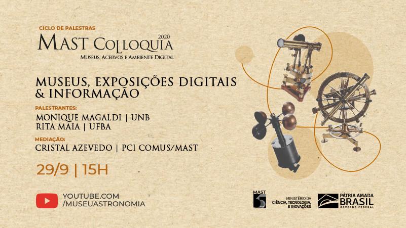 Museus, Exposições digitais e Informação- Mast Colloquia 2020