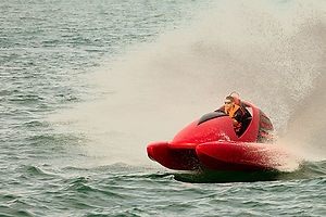 The Wavekat is a patented designer watercraft that has a mid mounted engine that creates fast speeds and agile handling