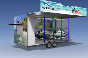 A perfect addition to any luxury resort, the JETPAD rental trailer and charging station will wow guests and quickly turn a ROI