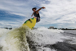 Wake Surfers for all abilities in stock. View more about this great sport here.