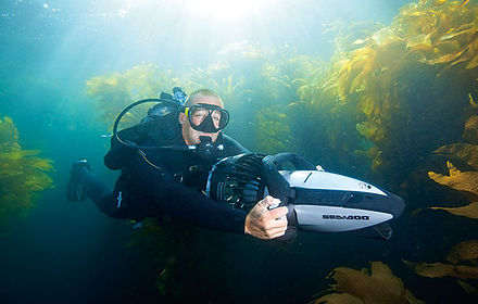 A great toy for any diving enthusiast, the all electric SeaDoo Sea Scooter lets you cover more ground