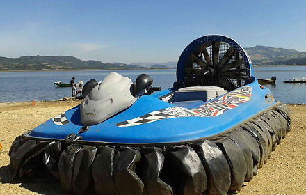 The 3-seater private hovercraft can handle all-terrain no problem, the only question is - Can you handle it?!