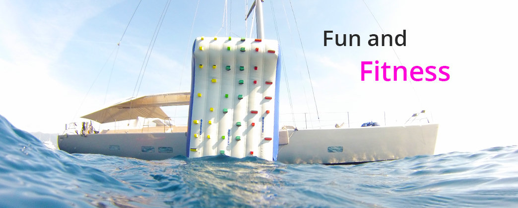 The Aquaglide Escalade is the original inflatable yacht climbing wall. Able to fit almost any size yacht or dock, the wall combines fitness and fun