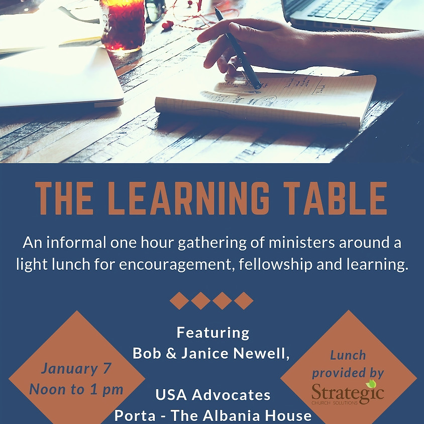 January Learning Table Lunch