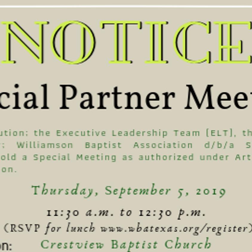 Special Partner Meeting