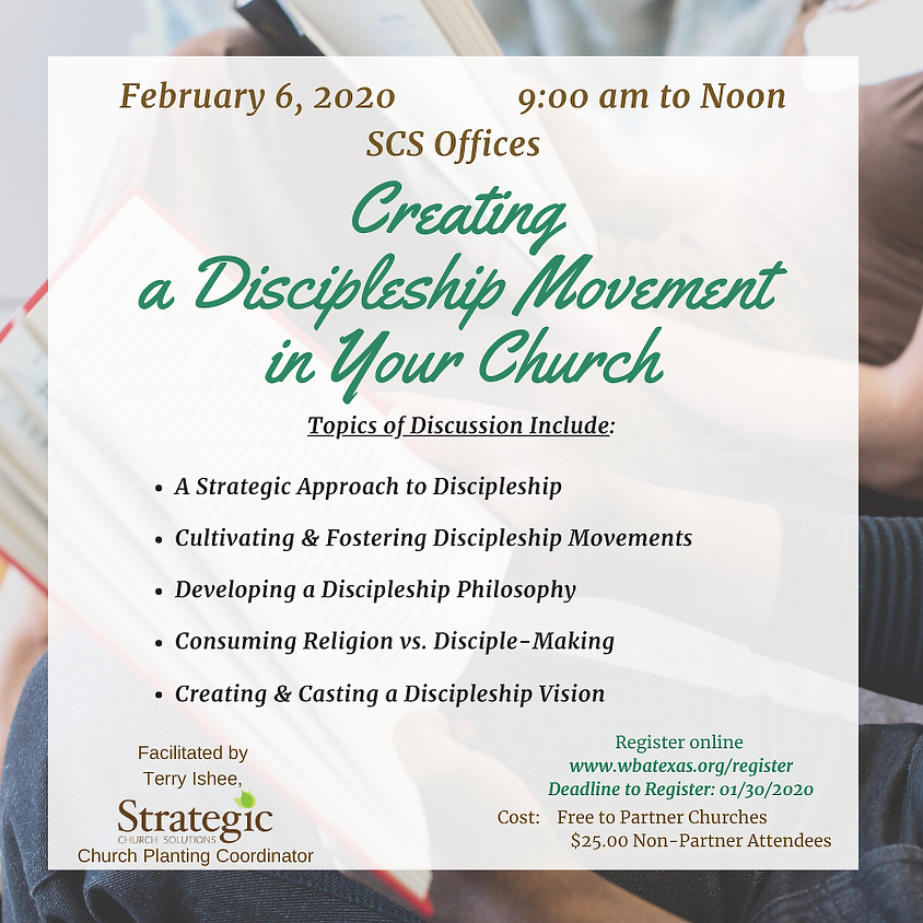 Creating a Discipleship Movement in Your Church