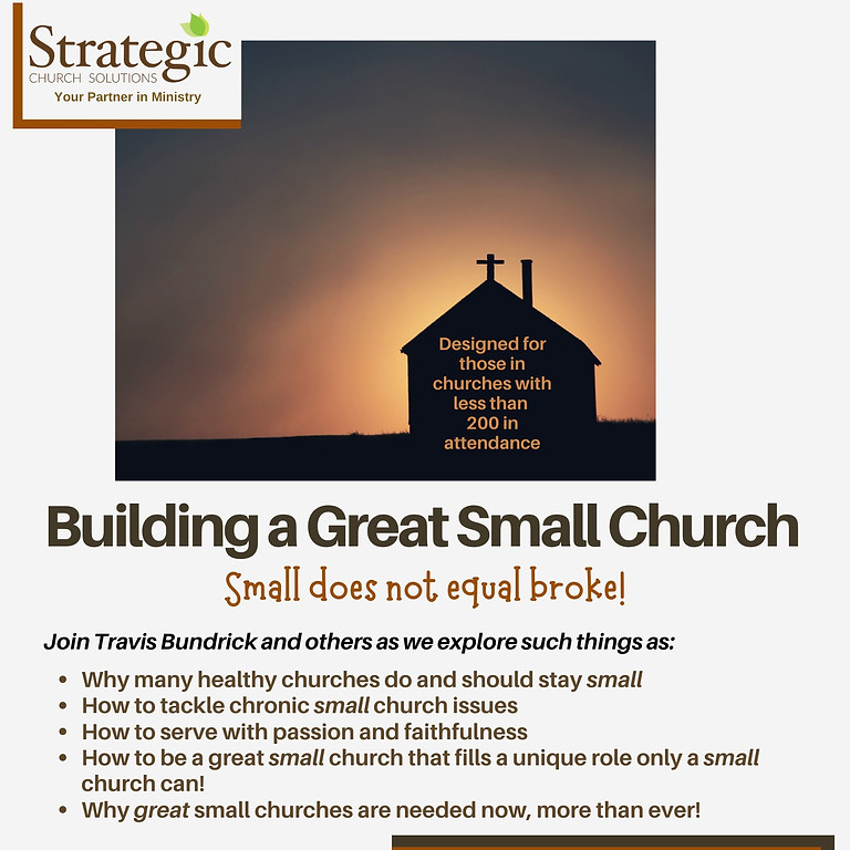 Building a Great Small Church